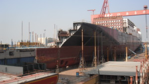 Atlantic Sun in Dry Dock No. 1 port view
